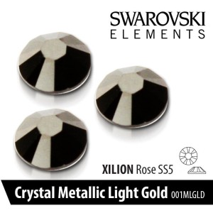 CYRKONIE SWAROVSKI - SS 5 - 001 MLGLD METALLIC LIGHT GOLD 50 szt.