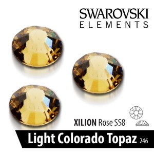 CYRKONIE SWAROVSKI - SS 08 - LIGHT COLORADO TOPAZ 50 szt.