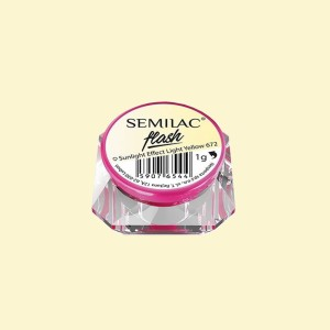 Semilac flash sunlight effect light yellow 672