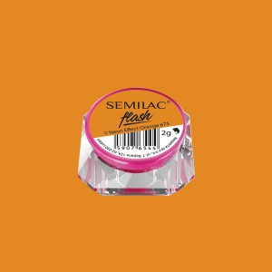 Semilac-flash neon effect-orange-675