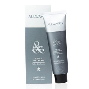 Farba do włosów Allwaves cream color 100 ml kasztan 4.36