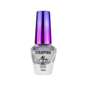 Lakier do stempli i stampingu Molly Lac 10 ml Srebrny Nr 3
