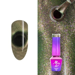 Lakier hybrydowy Molly Lac Cat eye 9D Under pressure 5ml Nr 399