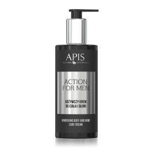 Apis - Action For Men - Odżywczy krem do ciała i dłoni 300ml