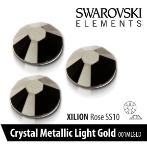 CYRKONIE SWAROVSKI - SS 10 - 001 MLGLD METALLIC LIGHT GOLD 50 szt.