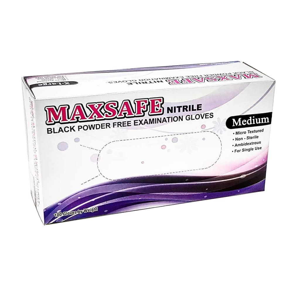8fc0e855348faf Rękawiczki nitrylowe bezpudrowe Maxsafe rozm M czarne 100szt ...