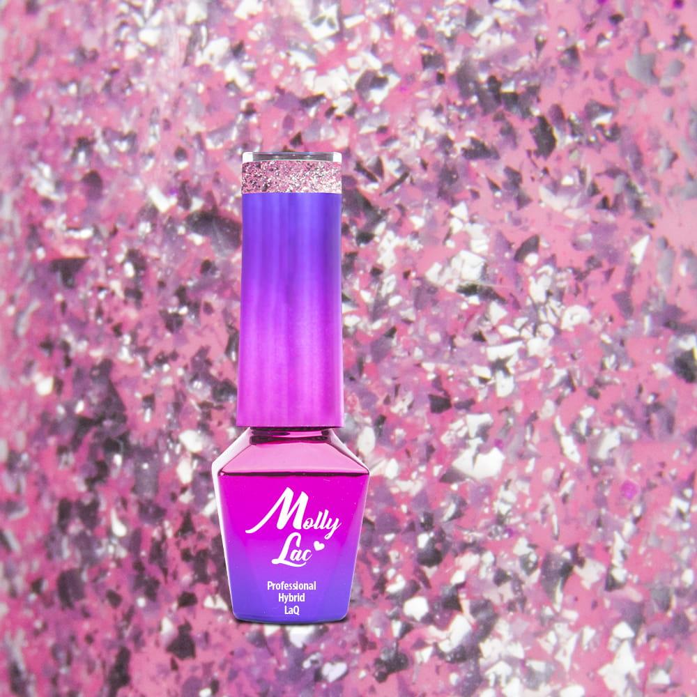 6745477352126b Lakier hybrydowy Molly Lac Luxury Limited Gem Silver Be Cute 5ml Nr ...